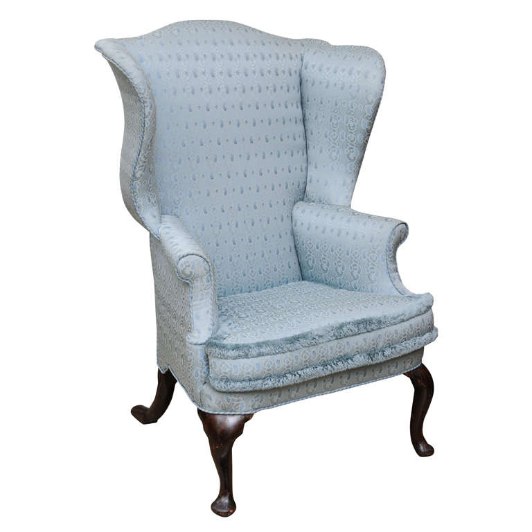 Queen Anne Easy, Wing, Lounge Arm Chair, Walnut, 18th Century