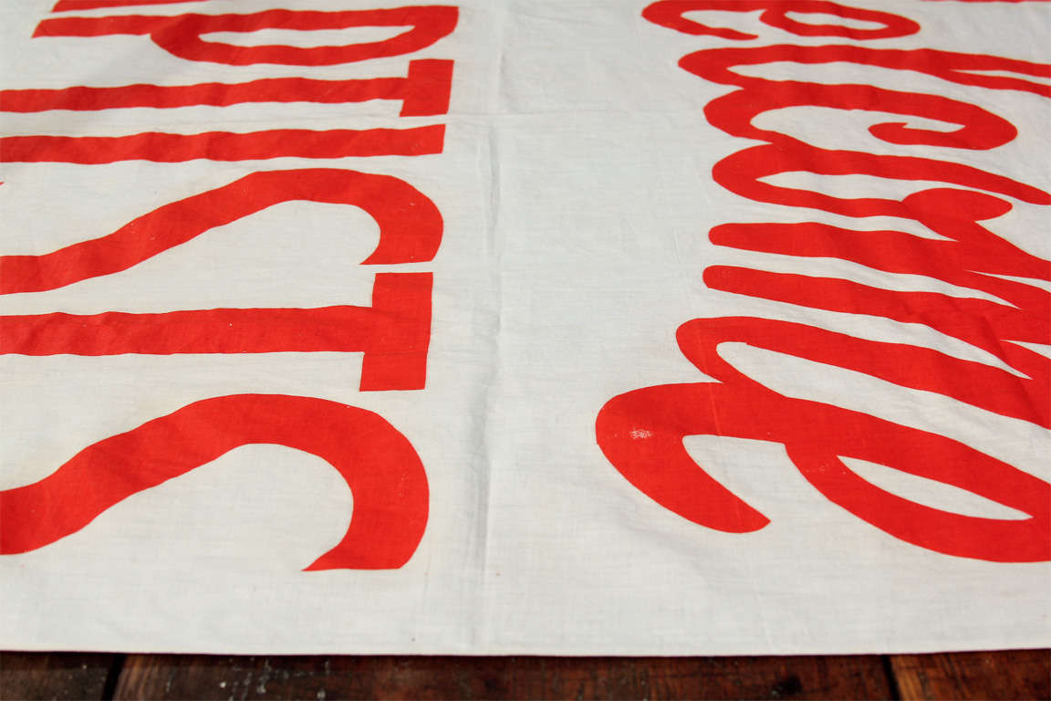 welcome baptists cloth banner at 1stdibs