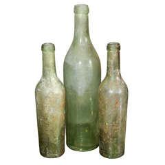 Group of Green Bottles
