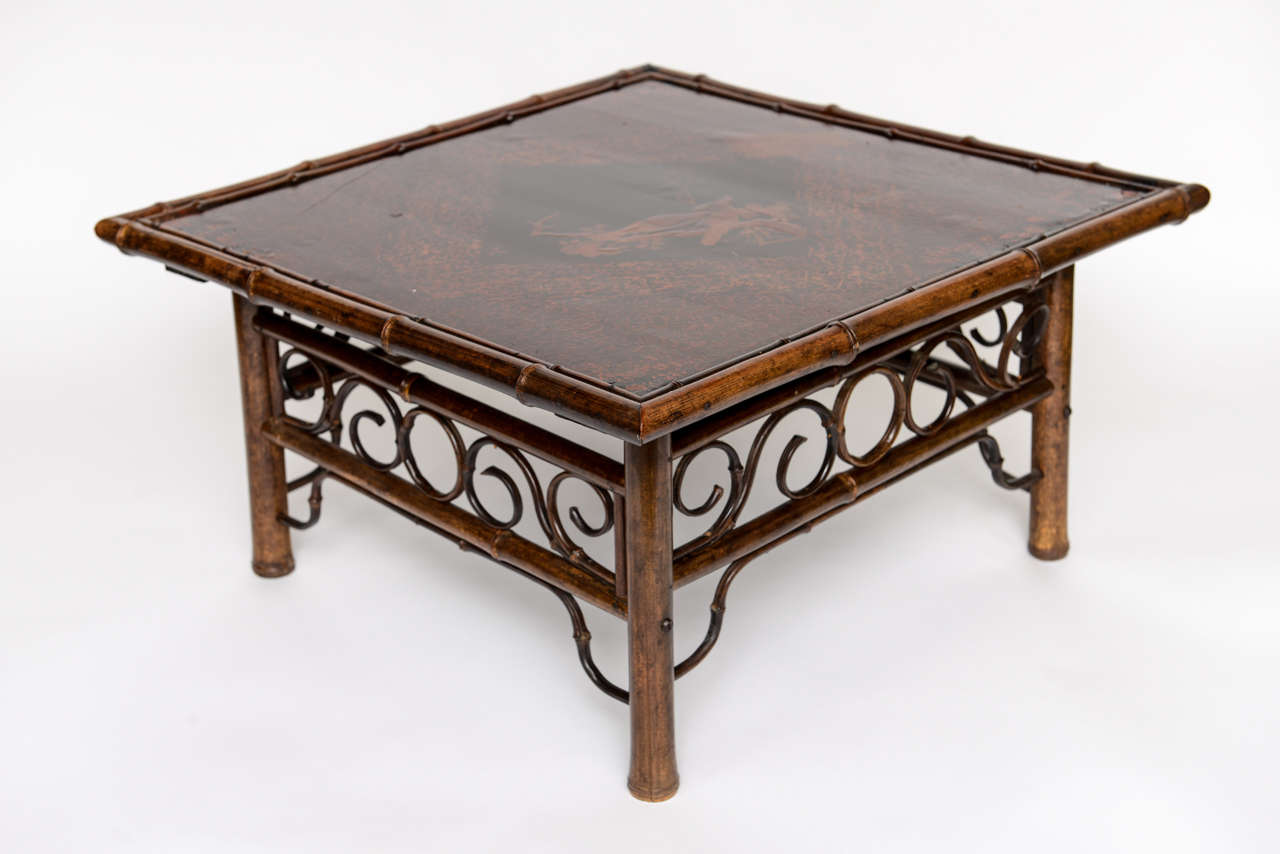 A Fine 19th Century English Bamboo Cocktail Table At 1stdibs