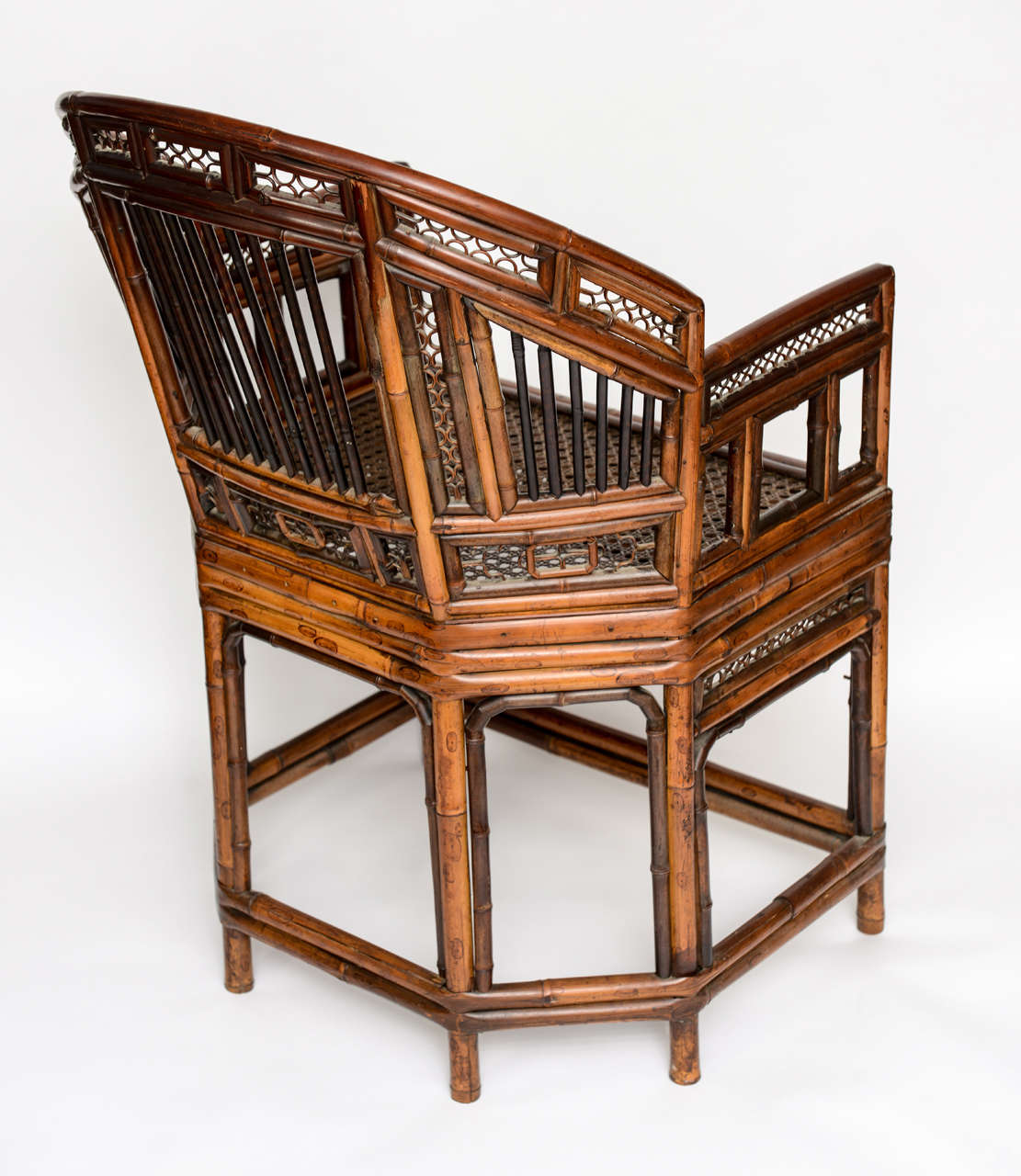 A fine chinese export bent bamboo armchair at 1stdibs for Bent bamboo furniture