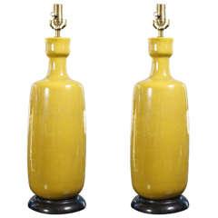 Pair Of Vintage Ceramic Lamps