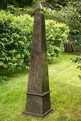 Forged Iron Single Obelisk At 1stdibs
