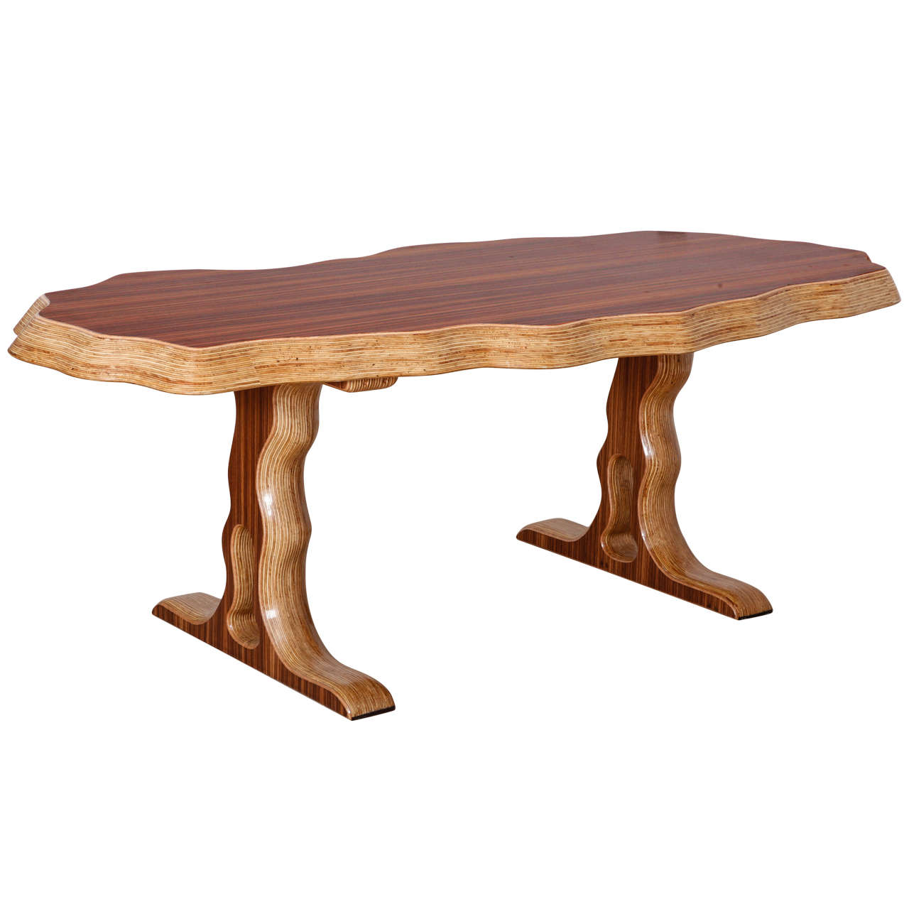 Zebrano Dining Table at 1stdibs