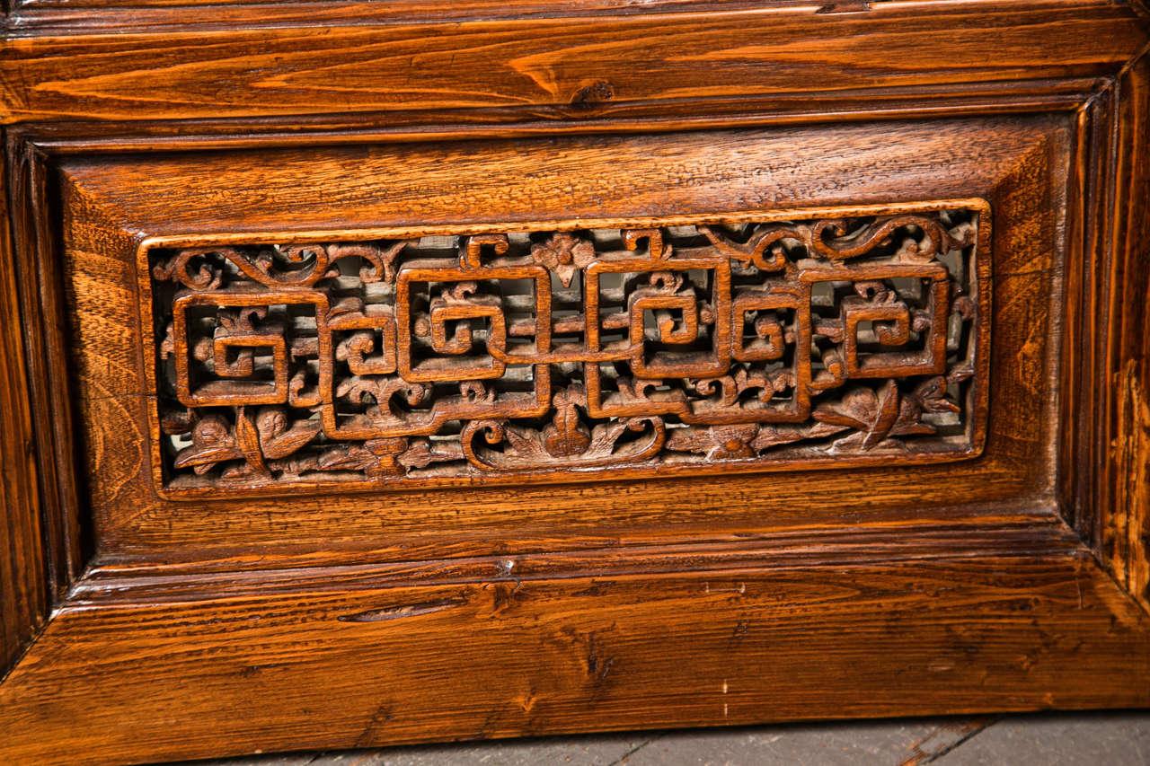 Pair Chinese Hardwood   Carved Panels 3
