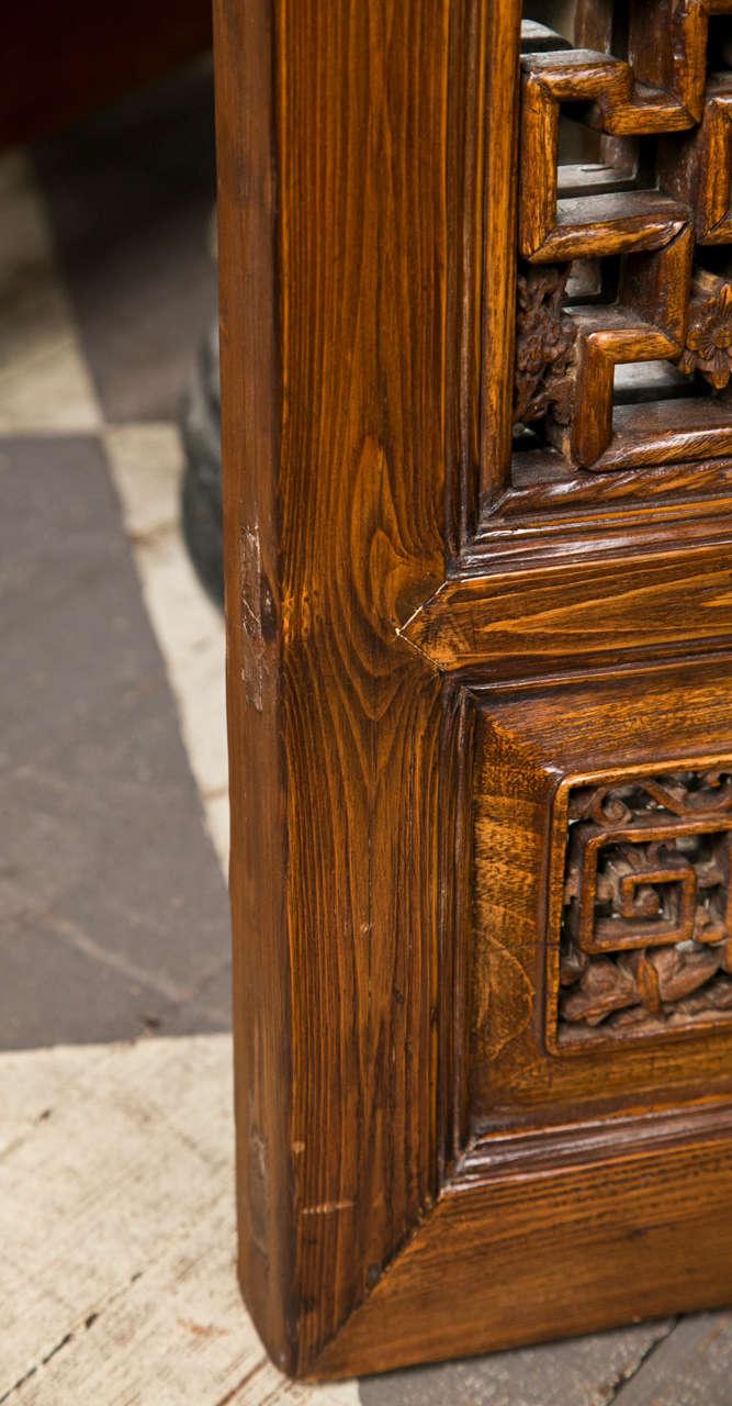 Pair Chinese Hardwood   Carved Panels 7