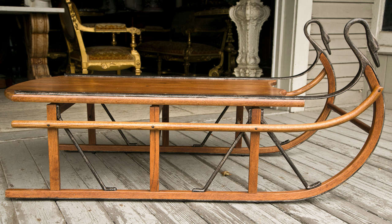 unusual coffee table in the form of a sled for sale at 1stdibs. Black Bedroom Furniture Sets. Home Design Ideas