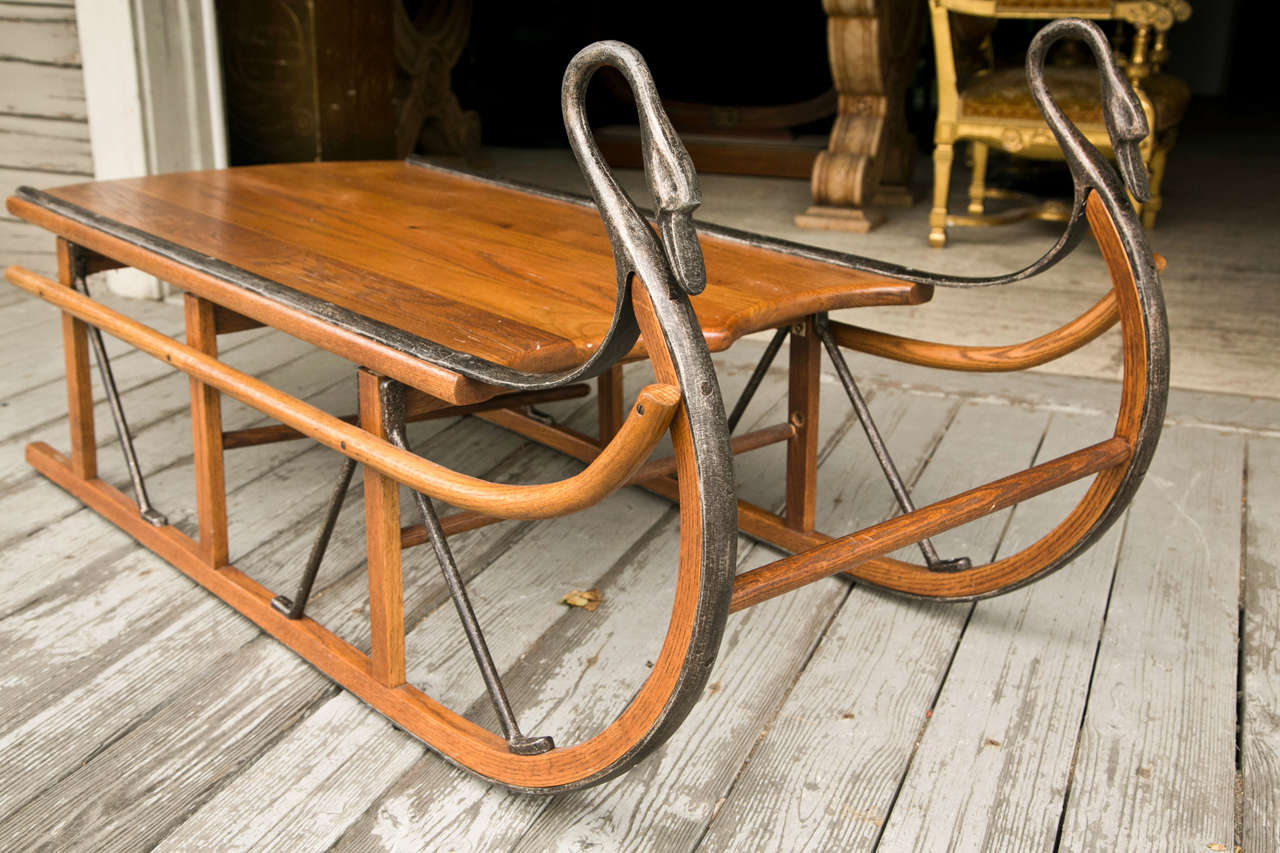 Attractive Sleigh Coffee Table Part - 8: Unusual Coffee Table In The Form Of A Sled 3