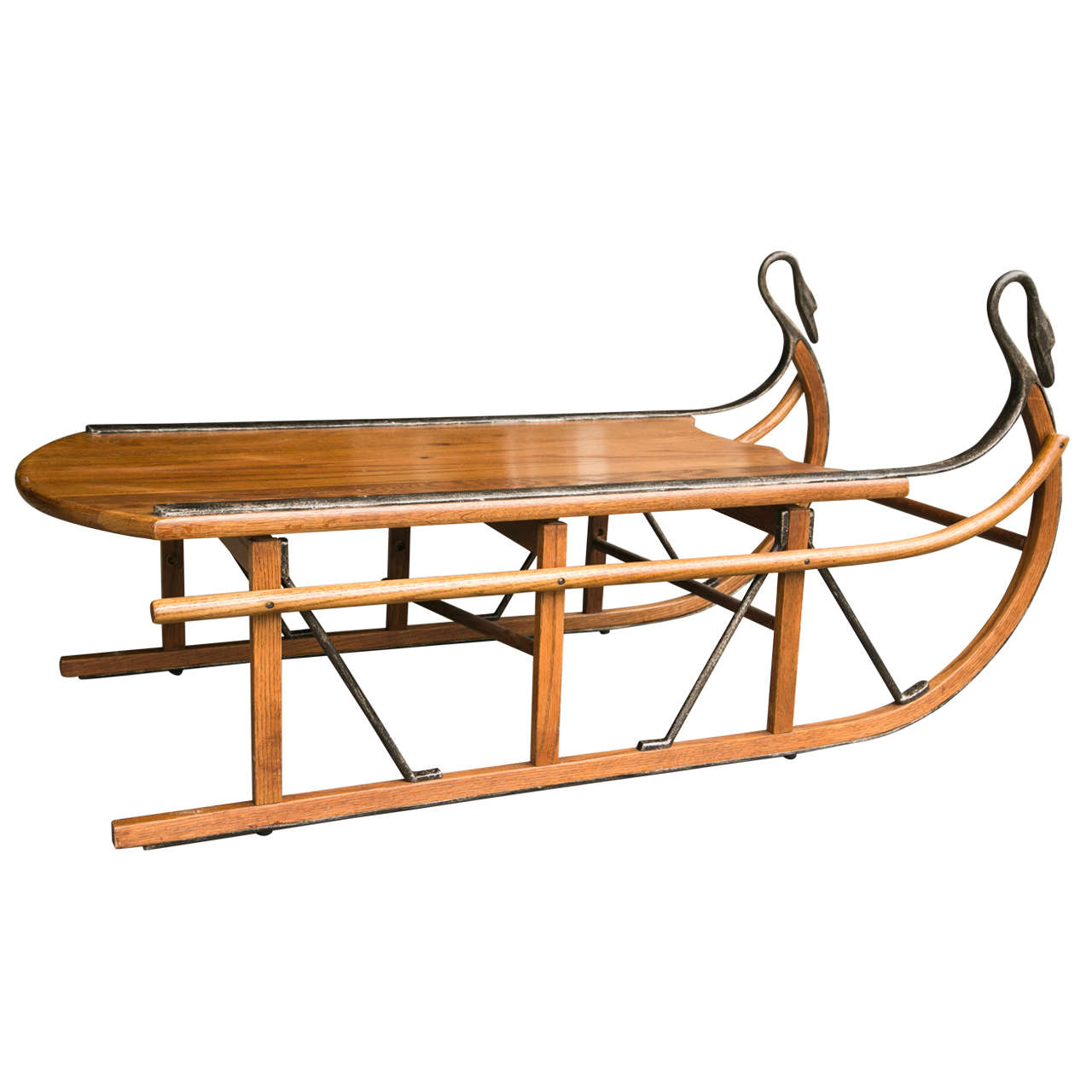 Unusual coffee table in the form of a sled at 1stdibs for Quirky coffee tables