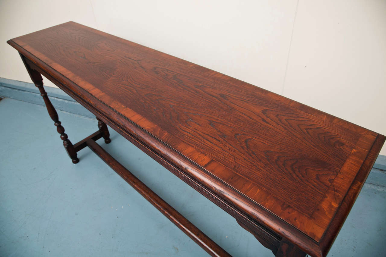 Jacobean Custom English Oak Console For Sale