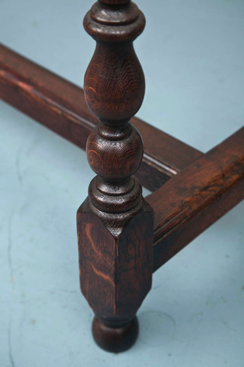 Cross-Banded Custom English Oak Console For Sale