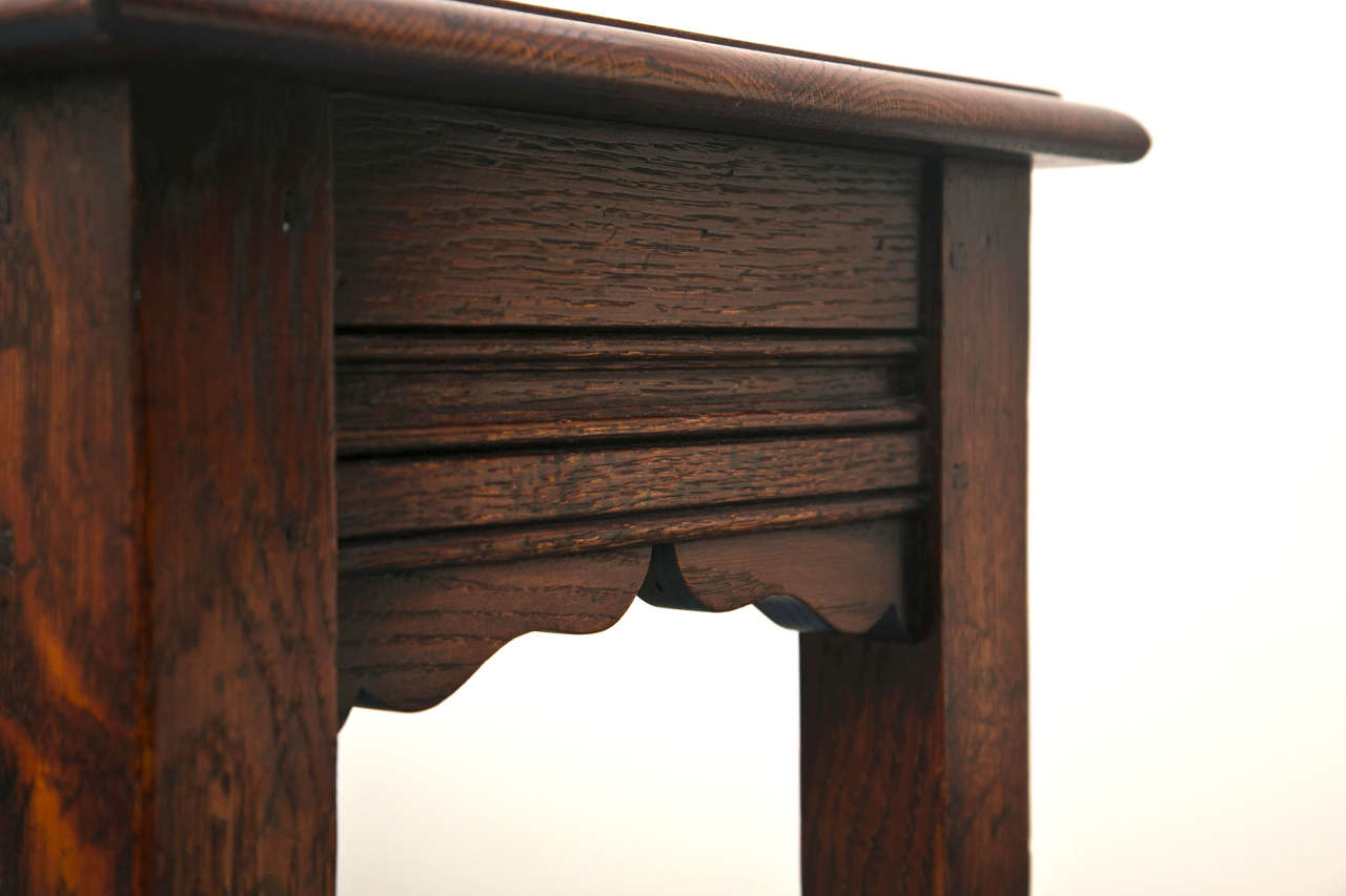 Custom English Oak Console In New Condition For Sale In Woodbury, CT