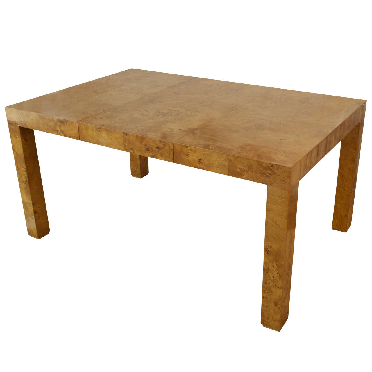 Milo Baughman Olive Wood Dining Table at 1stdibs