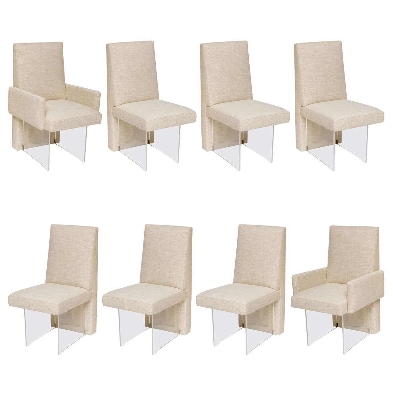 Set Of Eight Vladimir Kagan Dining Chairs For Sale