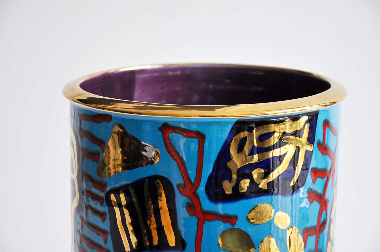 American 1980s Monumental Ceramic Vessel by Anna Silver For Sale