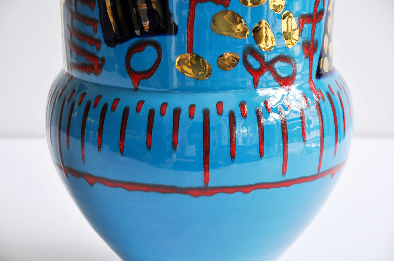 1980s Monumental Ceramic Vessel by Anna Silver In Excellent Condition For Sale In Winnetka, IL
