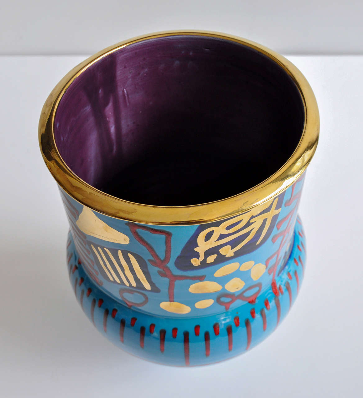 Modern 1980s Monumental Ceramic Vessel by Anna Silver For Sale