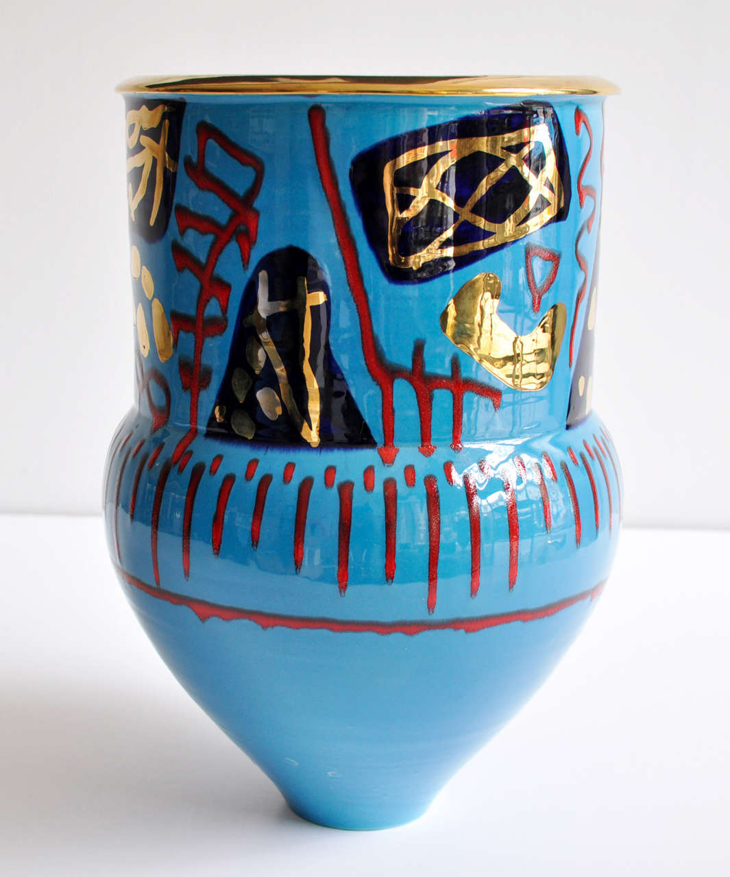 20th Century 1980s Monumental Ceramic Vessel by Anna Silver For Sale