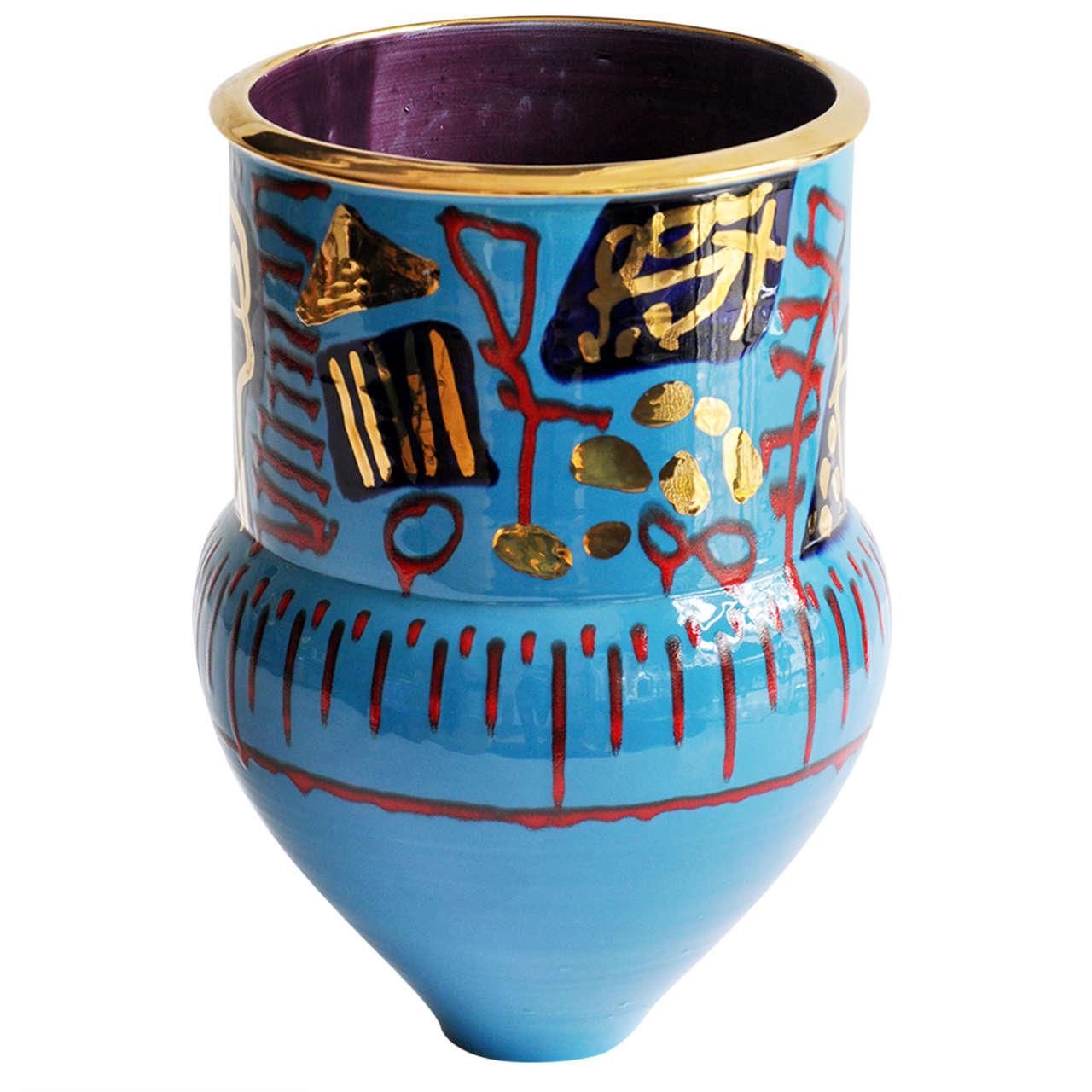 1980s Monumental Ceramic Vessel by Anna Silver