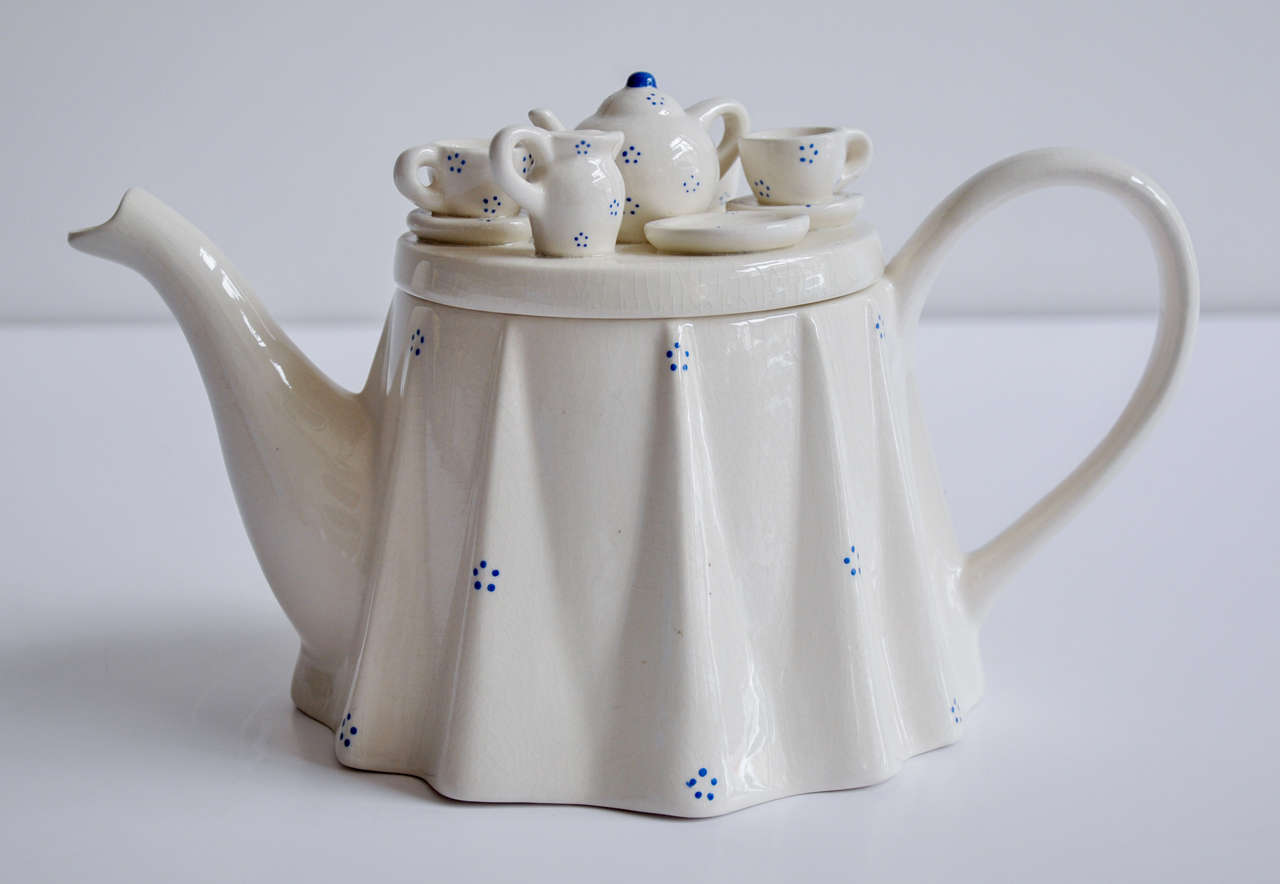 1980s Novelty British Teapot Commissioned By The Tea