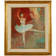"""La Danseuse,"" Oil on Panel, by Jean-Gabriel Domergue"
