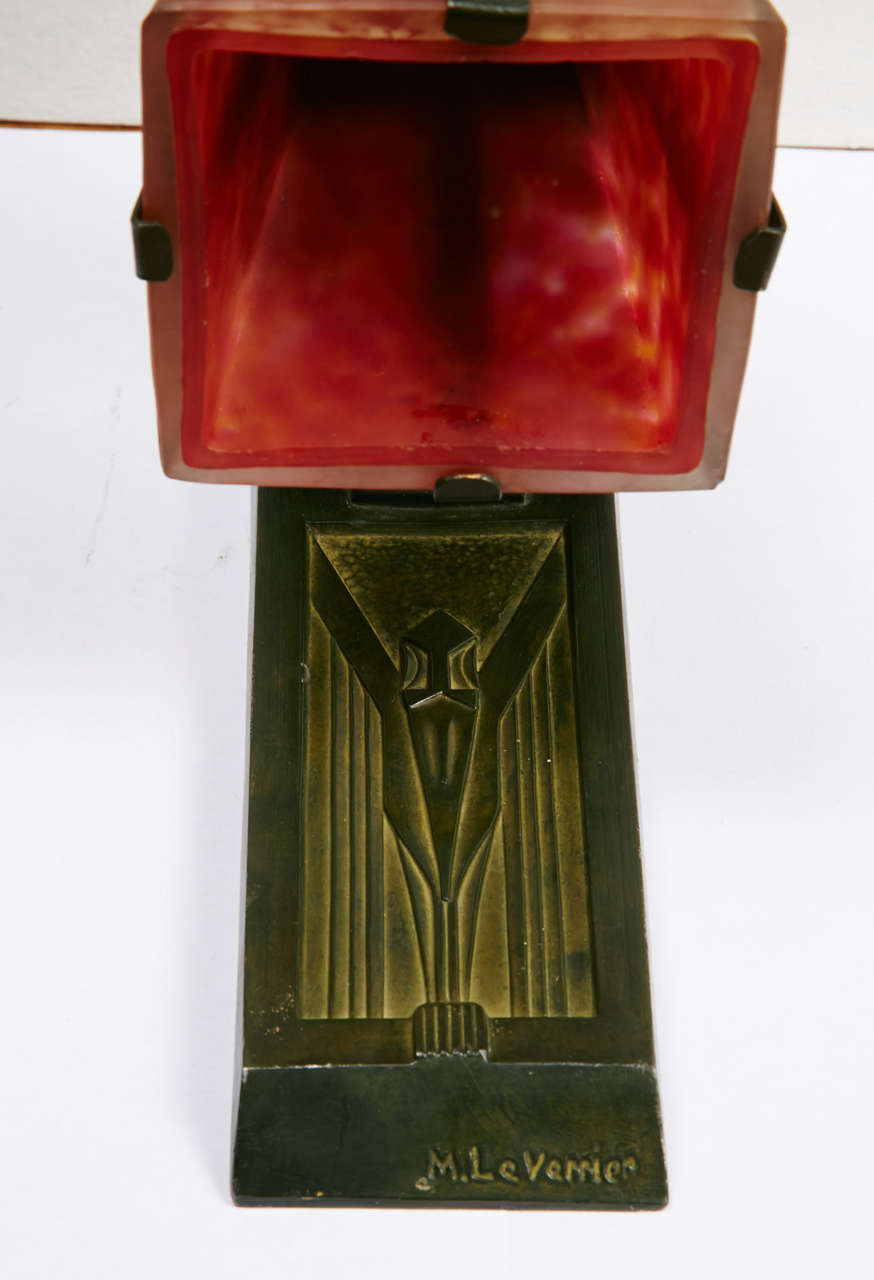 French Art Deco Sconces Signed by Max Le Verrier, circa 1920-1930 For Sale 1