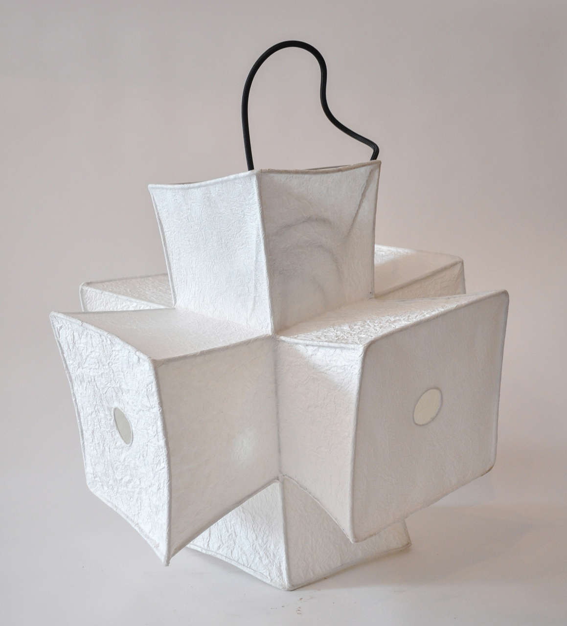Light fixture and paper lantern by andrew stansell at 1stdibs - Paper lighting fixtures ...