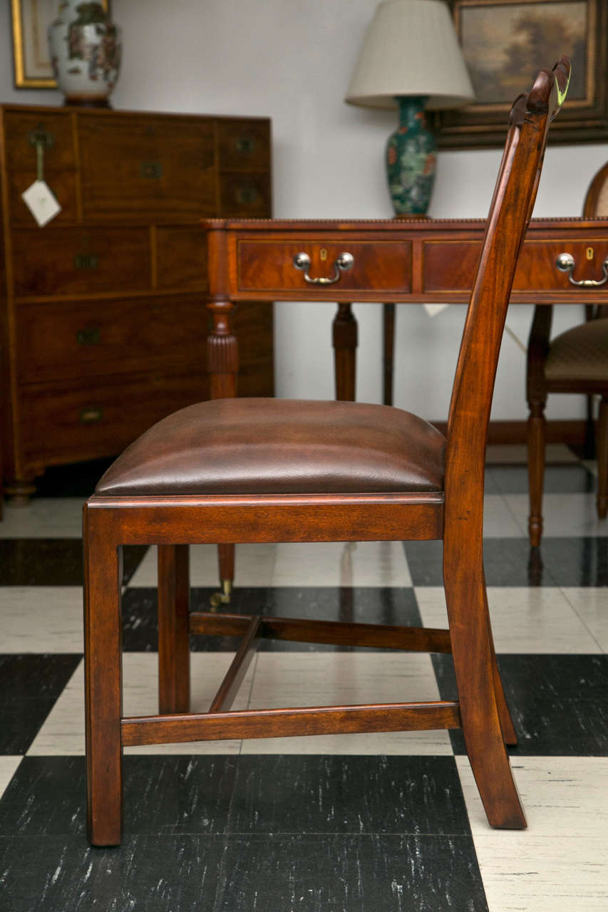 American Set of Ten Chippendale Style Dining Chairs For Sale