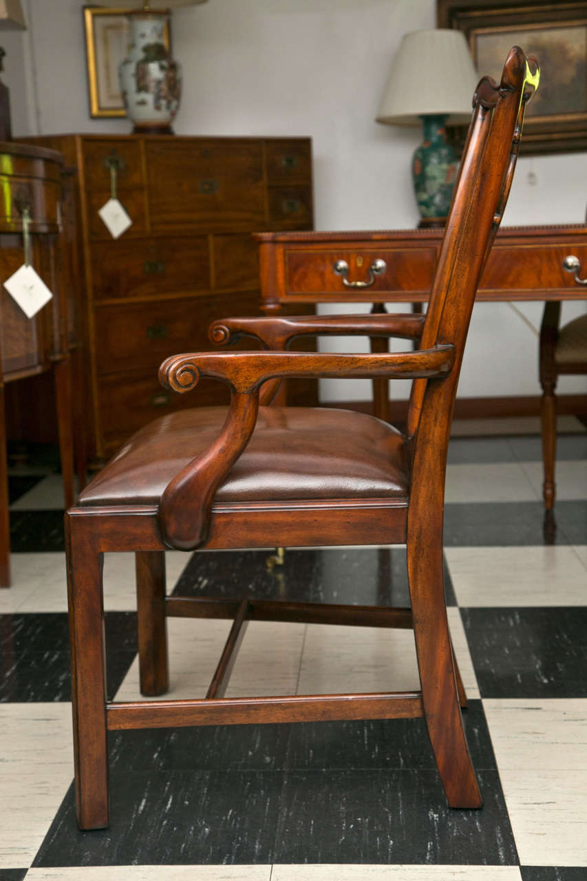 Set of Ten Chippendale Style Dining Chairs For Sale 2