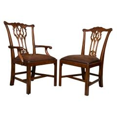 Set of Ten Chippendale Style Dining Chairs