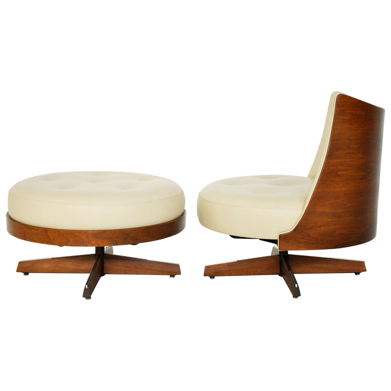 Plycraft Lounge Chair with Ottoman at 1stdibs