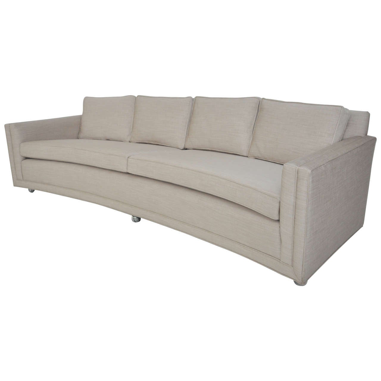dunbar curved sofa by edward wormley for sale at 1stdibs