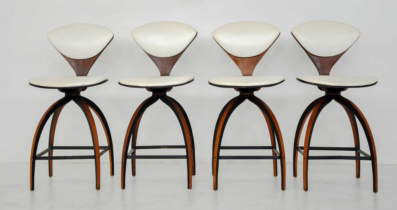 plycraft counter stools norman cherner 2