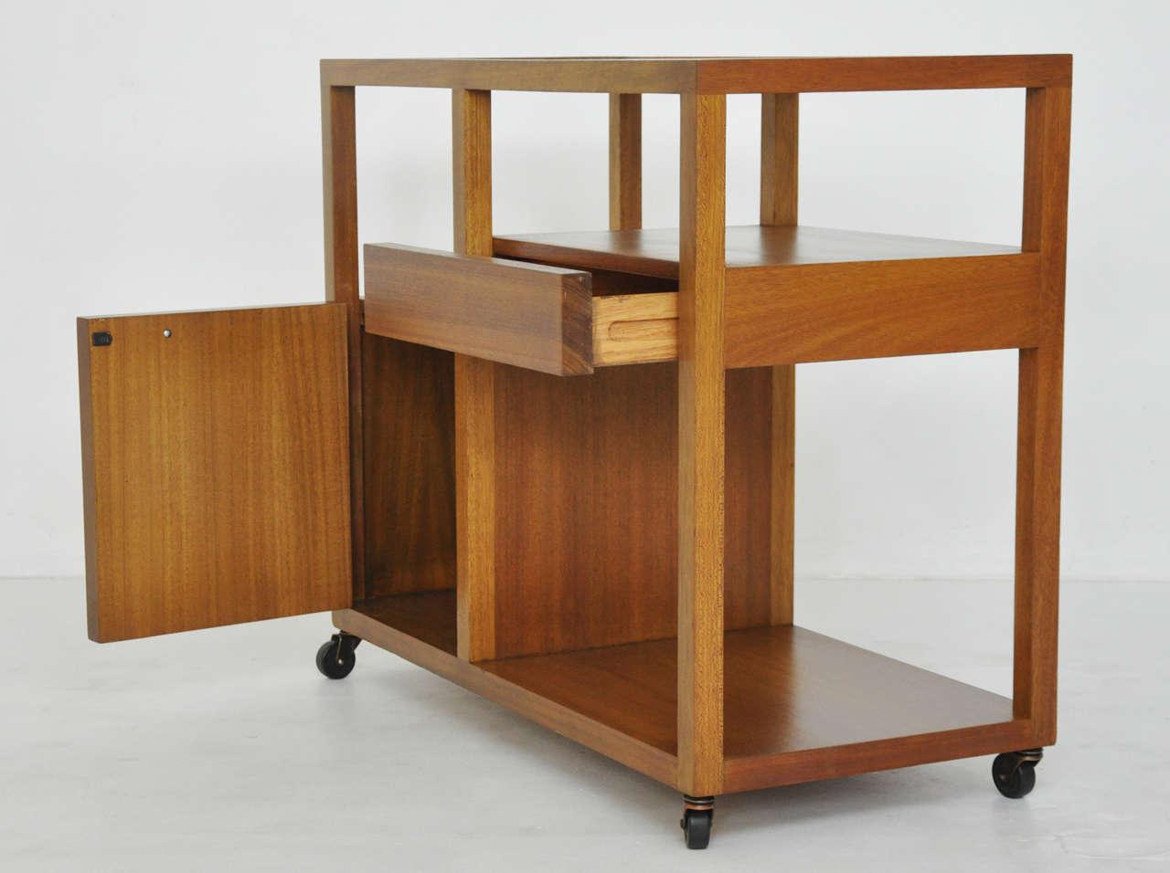 Wood Harvey Probber Bar Cart For Sale