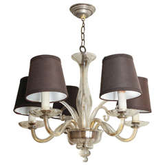 Italian Murano Glass Five-Light Chandelier