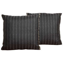 Pair of Handwoven Thai Silk Pillows