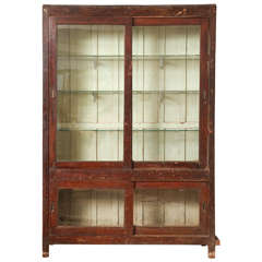Glass-Front Indian Bookcase