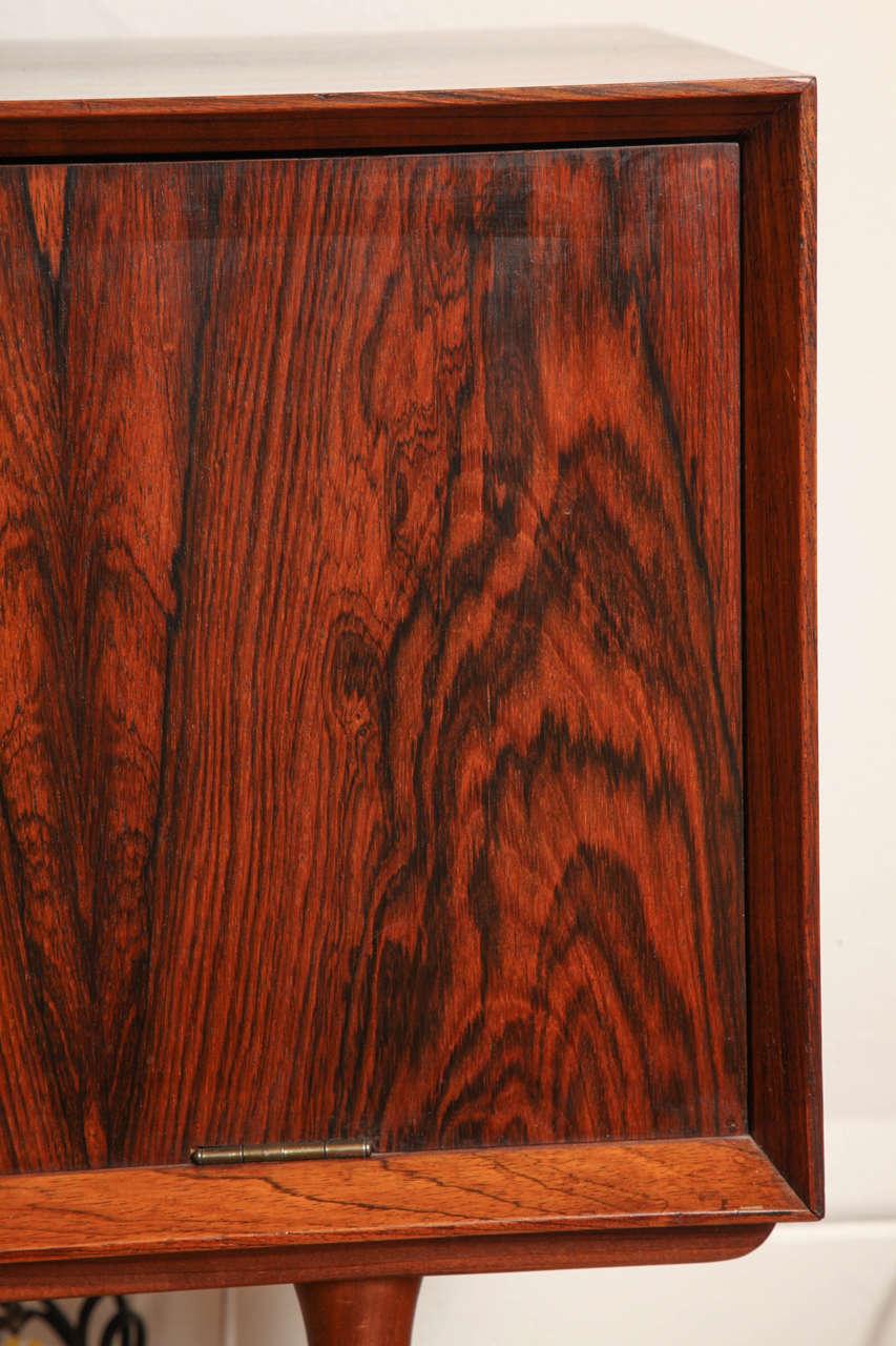 Italian Mid Century Wood Bar / Media Cabinet For Sale 1