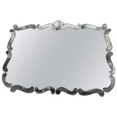 1940's Hollywood Regency Smoke and Clear Mirror