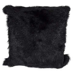 Genuine Long Haired Shearling Pillow, Double-Sided