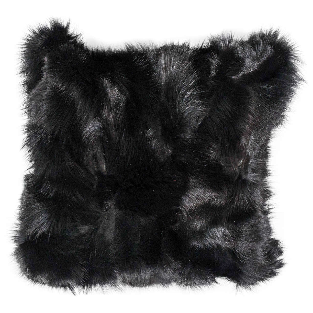 Genuine Double-Sided Black Fox Pillows