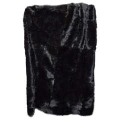 Black Short Hair Goat Rug