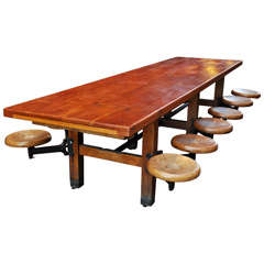Table with attached seats
