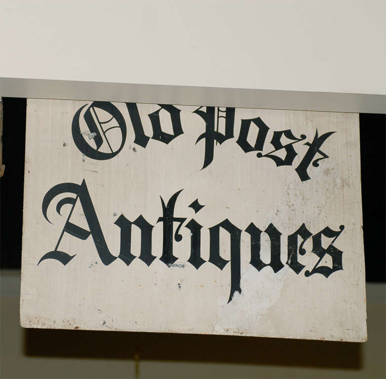 Antique Iron 'Old Post Antiques' Sign 8