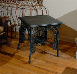 Late 19th C. American Victorian Wicker Table image 2