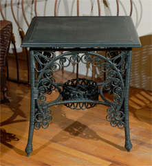 Late 19th C. American Victorian Wicker Table image 6