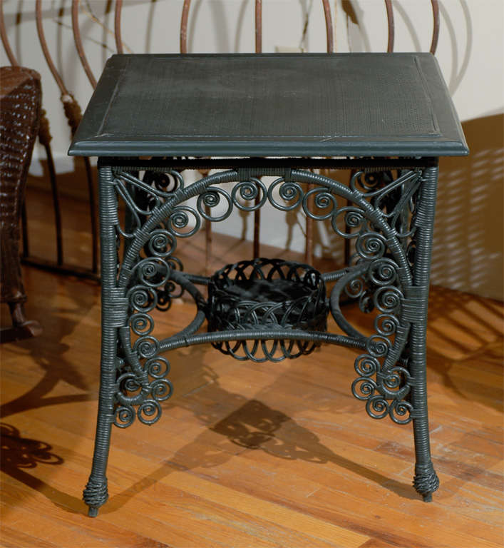 Late 19th C. American Victorian Wicker Table 6
