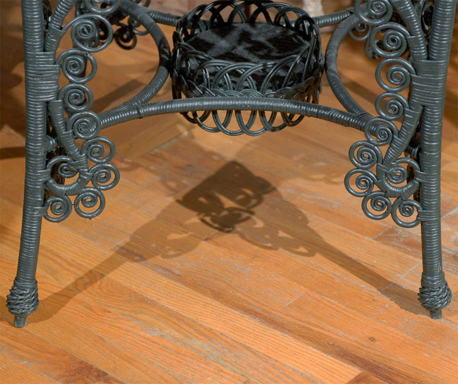 Late 19th C. American Victorian Wicker Table 7