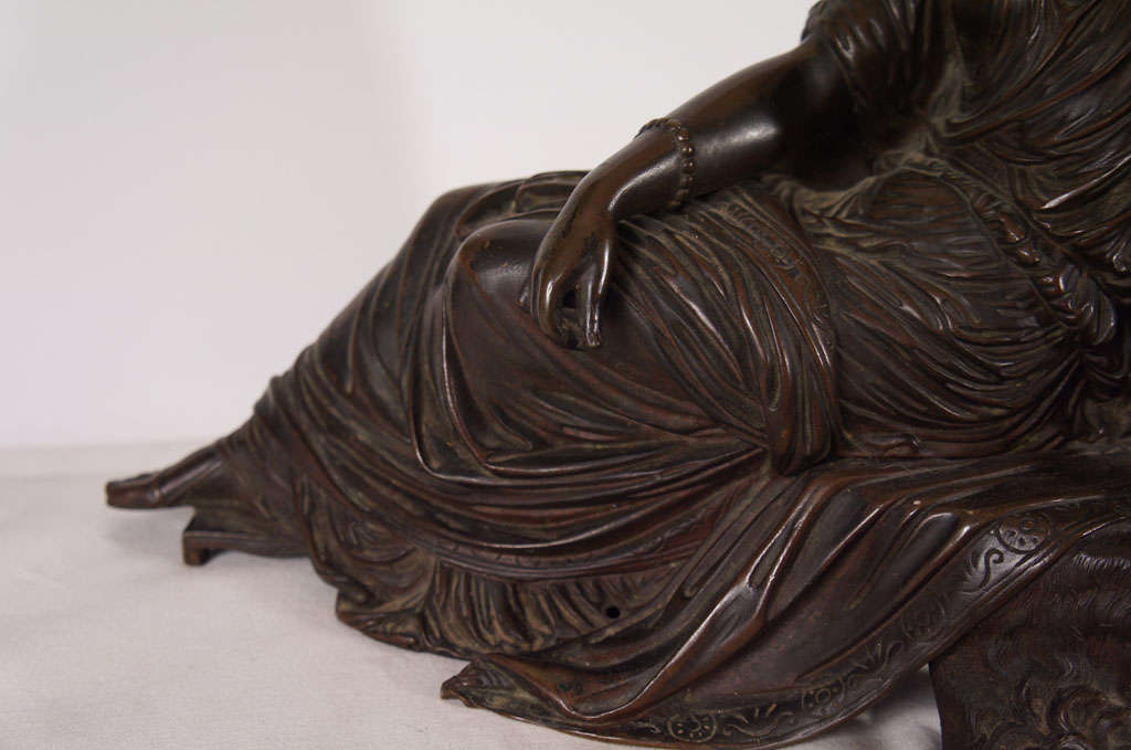 19th Century Classical Bronze of a Greek or Roman Female Figure For Sale