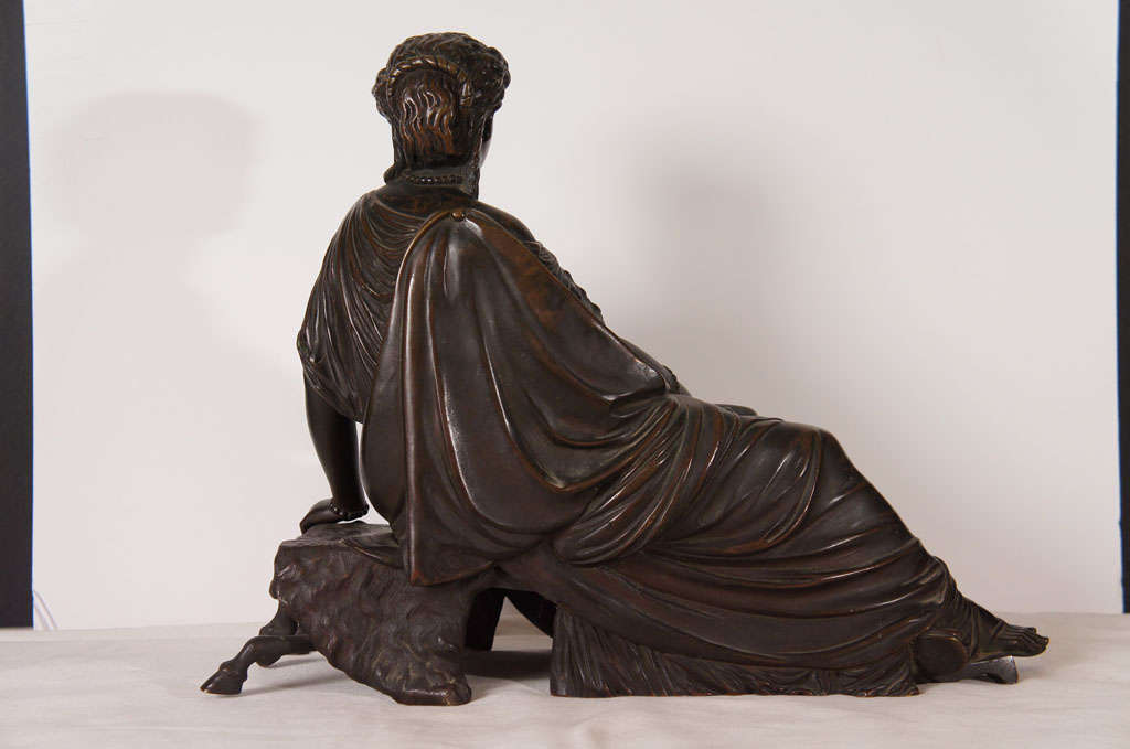 Classical Bronze of a Greek or Roman Female Figure For Sale 1